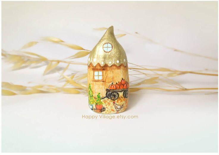 Fall house by Happy Village #falldecor #falldecorations #autumndecor #littlehouse #littleclayhouse #littleclayhouses #clayhouse #clayhouses #fairyhouse #fairygarden #pumpkin #pumpkindecor #thatsdarling #pursuepretty #handmade #buyhandmade #handpainted #littleclayhouse #clayhouses #minihouse #iloveminiatures #tinyhouse #tinyhomes #Giftforher #clay #pottery #homedecor #home #homesweethome #miniatureceramichouses