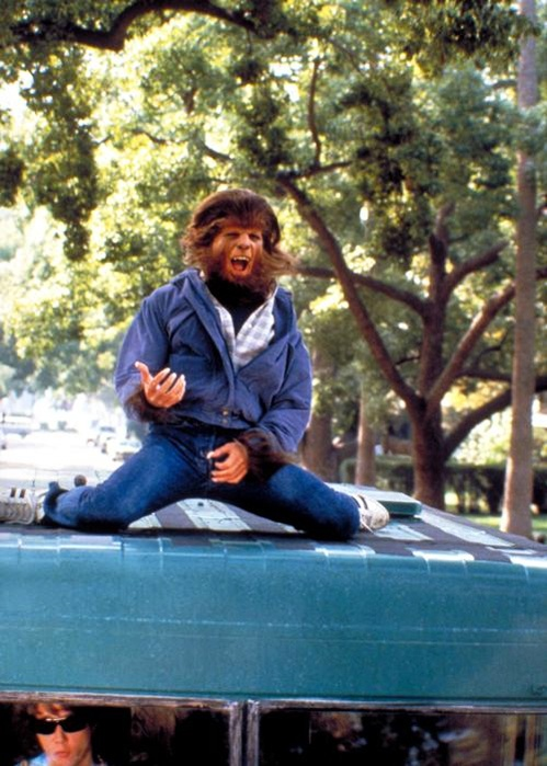 Michael J Fox car surfing in Teen Wolf