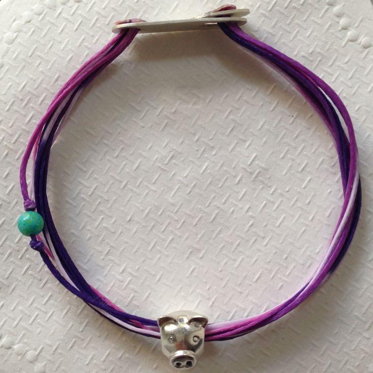 Bracelet with Silver 925 big charm!
