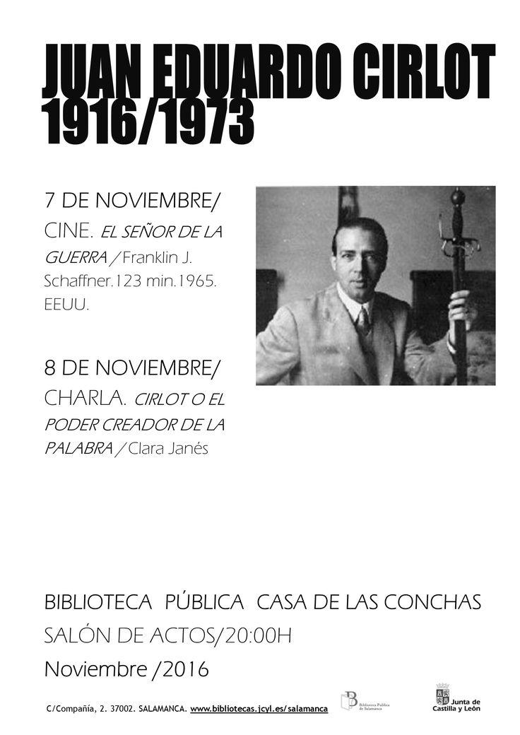 2016, centenario del nacimiento de Juan Eduardo Cirlot (Barcelona 1916-1973) la biblioteca quiere rendir homenaje a esta figura de la vanguardia española que fue poeta, ensayista y crítico de arte pero también se interesó por otros ámbitos de la creación como la música o el dibujo