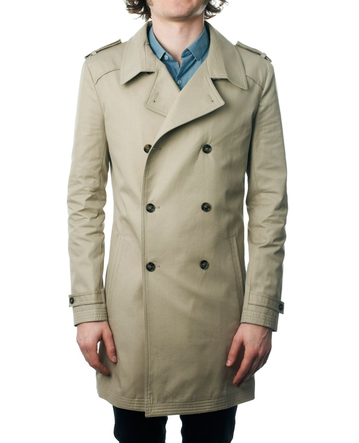 The Kooples Trench beige boutonnage croisé - Trench - Homme: Koopl Trench, Trench Beige, Boutonnag Croisé, Beige Boutonnag, Trench Coats, Man