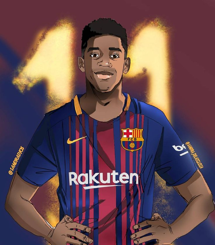 "382 Likes, 3 Comments - Sandra de la Iglesia (@sandra.delaiglesia) on Instagram: ""Cartoon: el 11 del barça @o.dembele7 Feel cree to repost giving me credit. #dembele #dembélé #fcb…"""