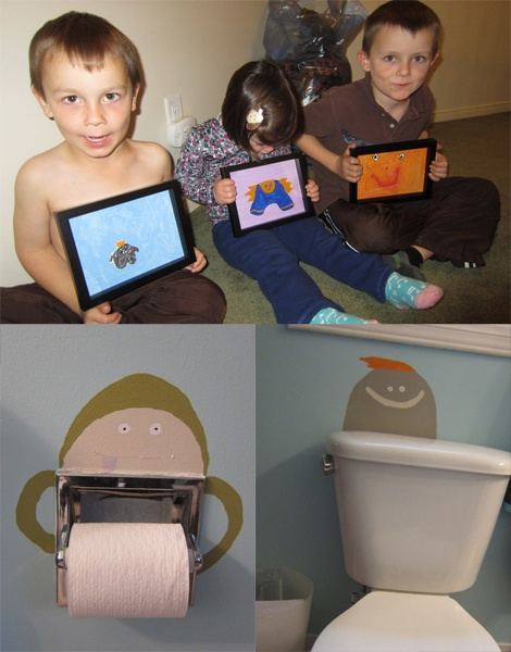 Taryn and her kids monster decorated bathroom and framed monster art was also outstanding!