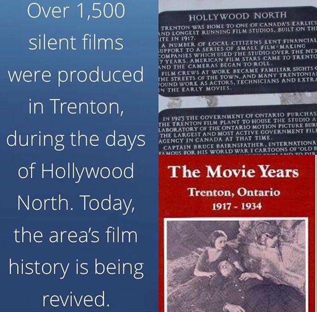 "#hollywoodnorth Fun fact: Trenton was actually nicknamed ""Hollywood of the North"" and for good reason, over 1,500 silent films were filmed in Trenton during the 1920s. Trenton also used to produce film (the material🎞) at the Parker Bros Textile Mills (on film street along with the plaque) Sorry Toronto but #wetherealhollywoodofthenorth 📽http://bayofquinte.ca/tourism/history-hollywood-north/ 🎥#hollywoodofthenorth #movieyears #trentonontario #bayofquinte #hometownreppin"