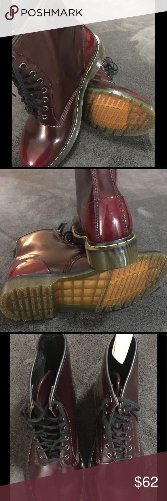 Men's Dr. Martens AirWair Boots NWOT Mens Dr. Marten lace up boots. Dark burgundy color. Dr. Martens Shoes Lace Up Boots