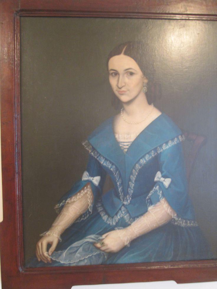 Anonimo  Filomena Carrizosa Sarmiento Ca. 1845 Oleo sobre tela.