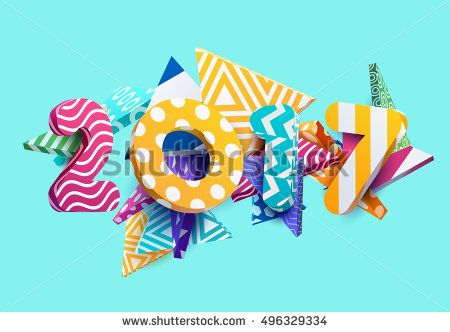 New year 2017. Colorful design.