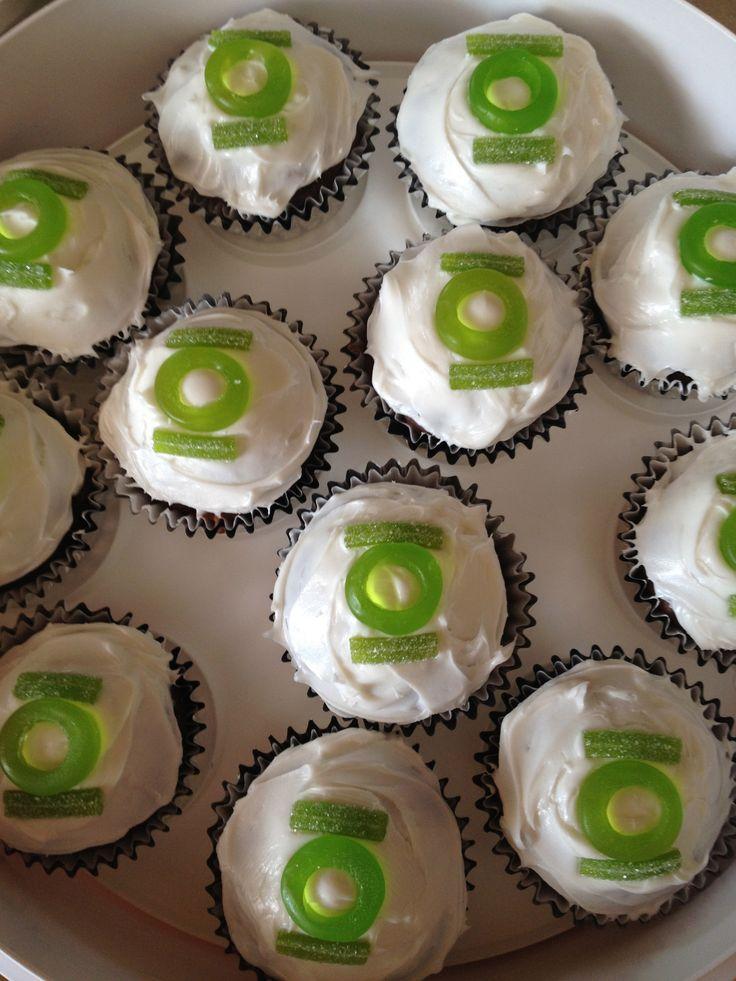Green Lantern Cupcakes