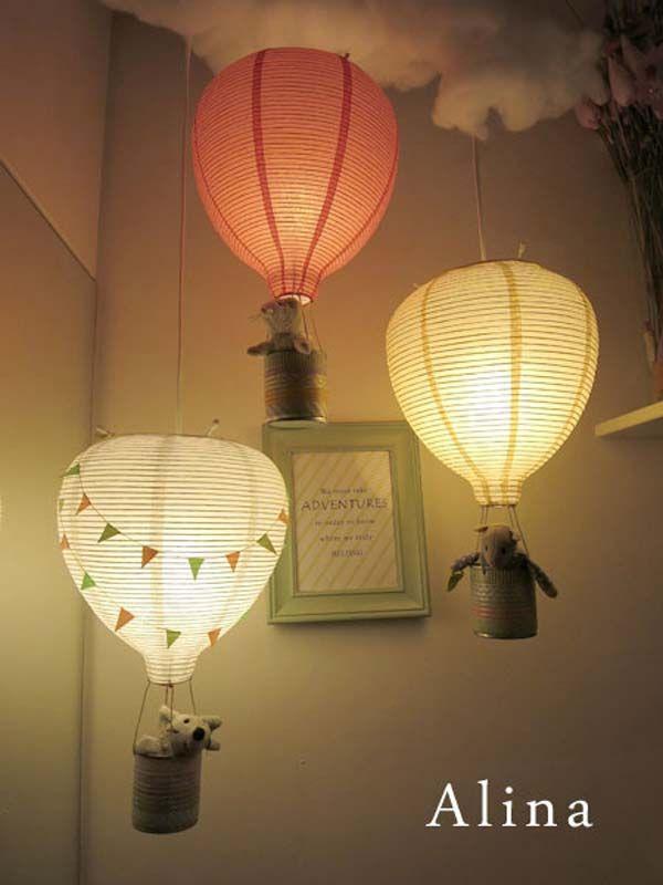 Add magic hot air balloon lights to the room.
