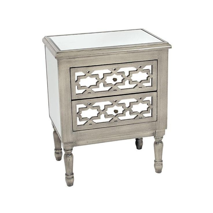 Classy #mirrored wooden #commode in #antique grey color. www.inart.com