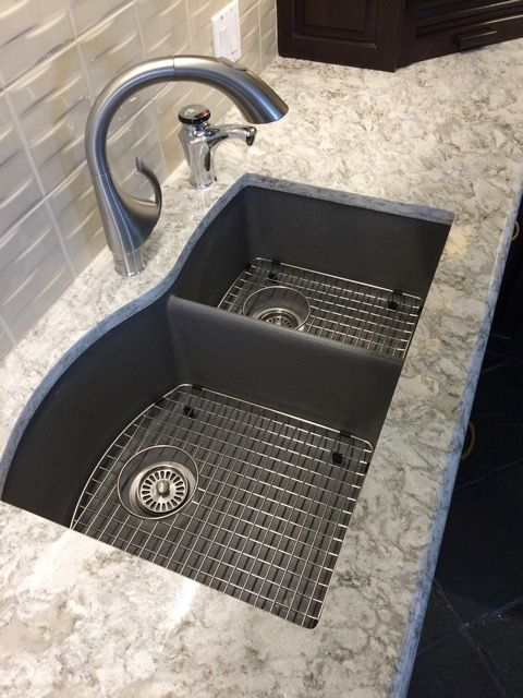 Blanco sinks |,Design Kitchen update by Interior Directions. #1 sink spec to clients by Susan Prestia, with Cambria Counters,Grohe faucet.   Love counter color.