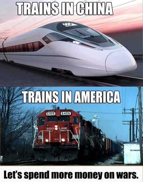 Trains: Politics, America, Spend Money, Green, Truths, War Spend, Bullets Training, Coolers Training, Country