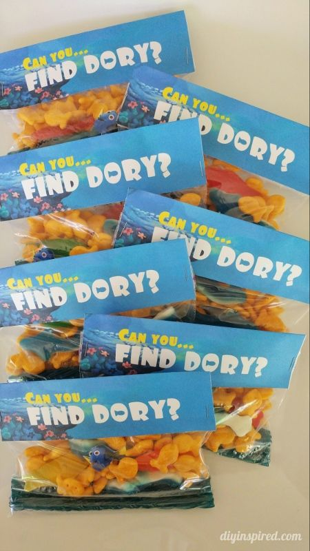 Party Favor Printables, Finding Dory Birthday Party Ideas | Pretty My Party