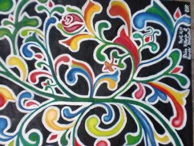 Okir Decorative Painting From The Philippines Filipino Architecture In 2018 Art Indigenous And