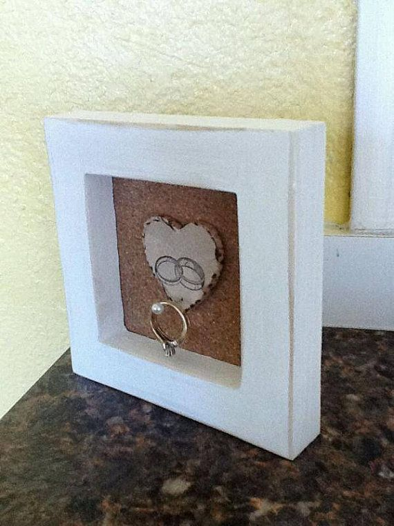 Our Beautiful shabby chic Ring Safe Spot.    This beautiful frame is the perfect place to put your rings , while washing dishes,and at bed time.