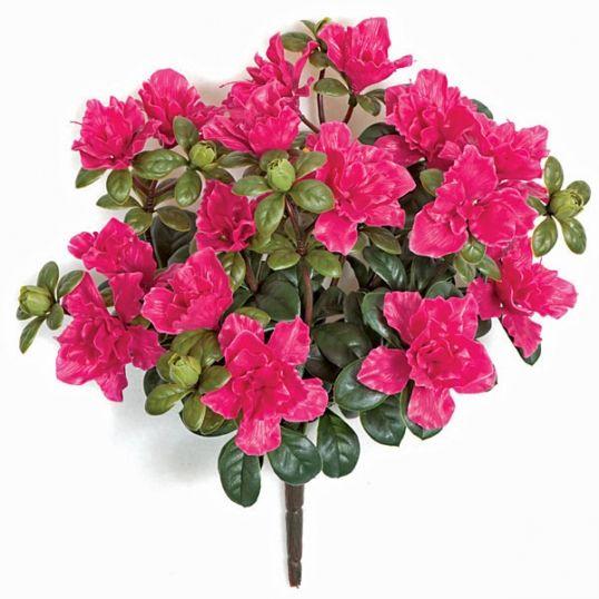 16 inch Artificial Outdoor Beauty Azalea Bush: Unpotted