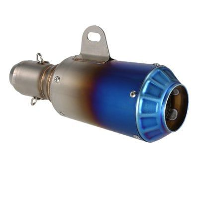 38 51mm Half Blue Motorcycle Refit Exhaust Muffler Silencer #exhaustsystem #exhaust
