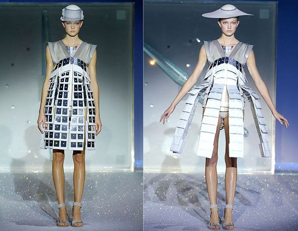 Fashion goes high-tech with solar panel skirts.