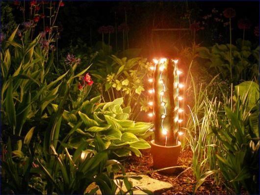 DIY cactus lamp