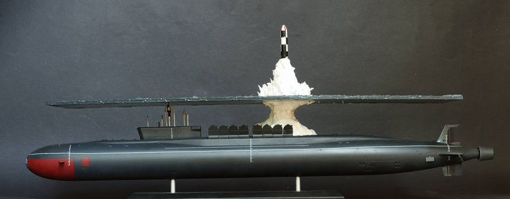 Great scale model of Russian submarine Yury Dolgorukiy (K-535) - 24
