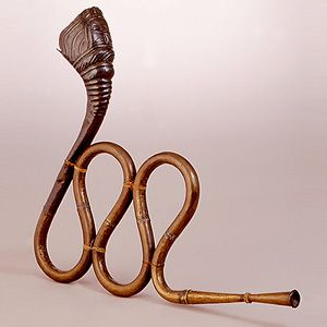 Extinct Indian Musical Instrument - Nagfani (serpentine horn)