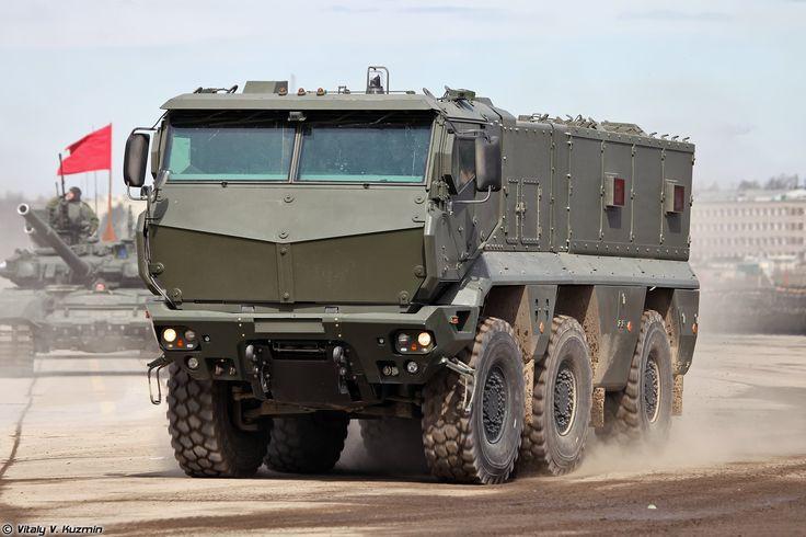 Modern military transport truck