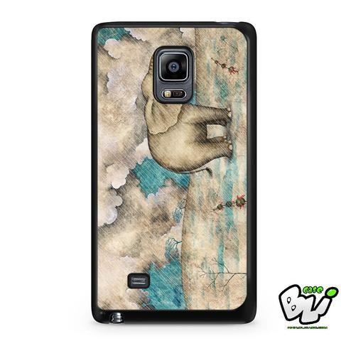 Elephant Rain Painting Samsung Galaxy Note Edge Case
