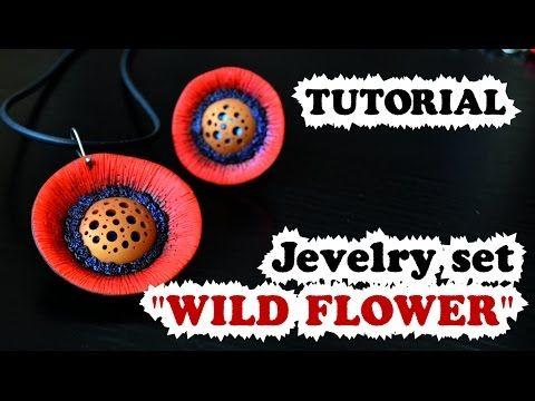 "DIY ✿ Jewellery set ""Wild flower"" ✿ Мастер-класс ✿ Комплект украшений ""Дикие цветы"" RUS SUB - YouTube"