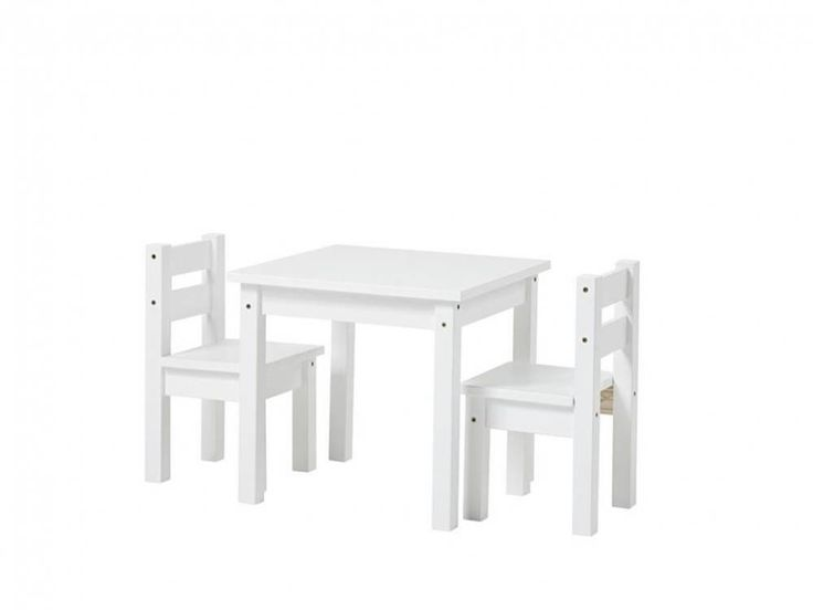 Hoppekids Kinder Sitzgruppe 3-Teilig, 2Stühle - 1 Tisch, Weiß, Hoppekids - 123moebel.de