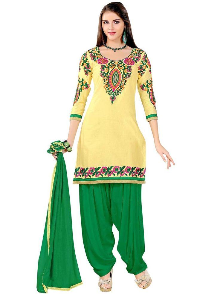 Fascinating yellow color cotton kurta is beautified with resham work. Item Code:SLANA10002K http://www.bharatplaza.com/new-arrivals/salwar-kameez.html