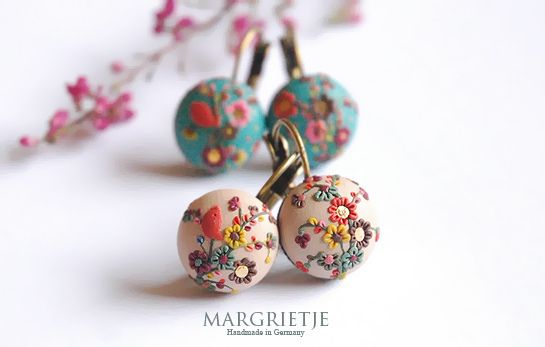 Polymer clay earrings