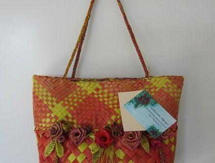 Flax handbag - Kete