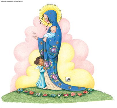 petitpoulailler:  Our Lady of Mount Carmel, Mary Engelbreit