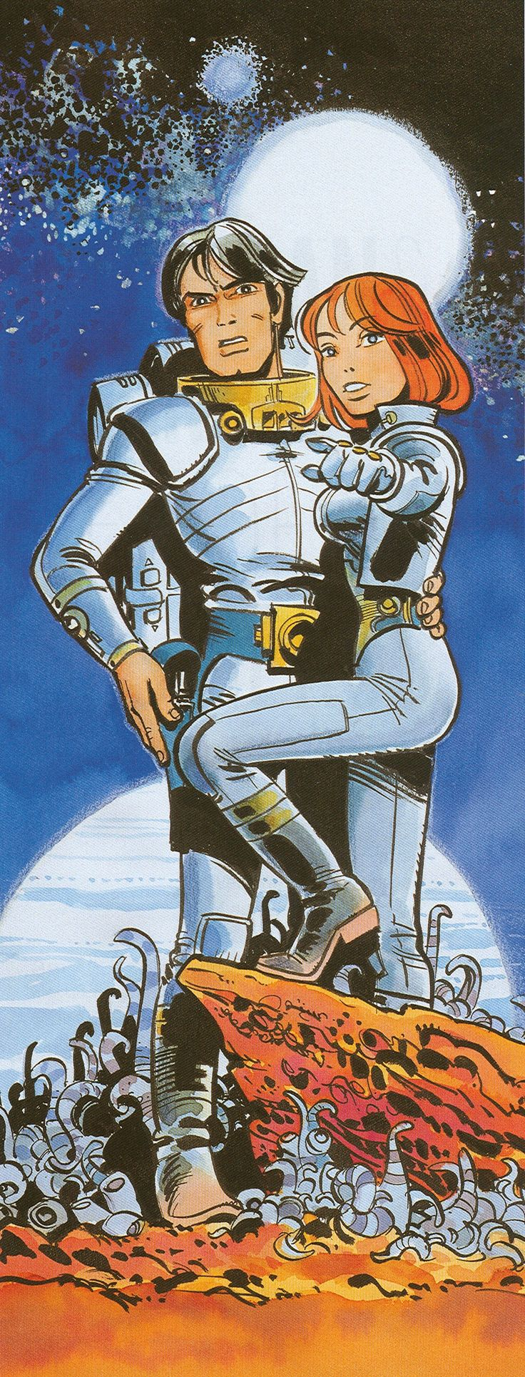 Valérian and Laureline is a French science fiction comics series, created by writer Pierre Christin and artist Jean-Claude Mézières. First published in the magazine Pilote in 1967, the final installment was published in 2010. The early volumes are currently being released in English.