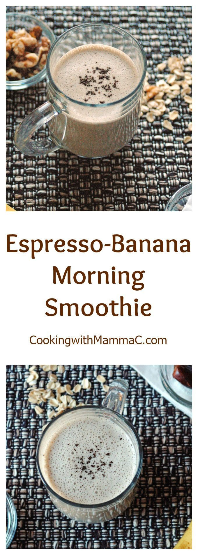 Espresso-Banana Morning Smoothie - A delicious morning beverage that's vegan and…