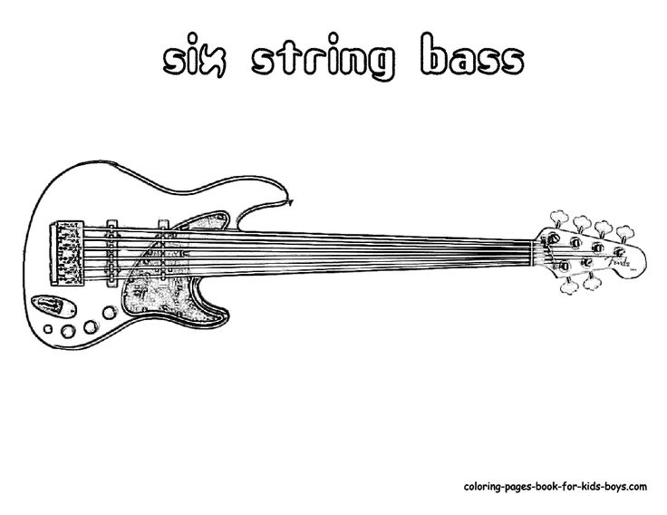 The 40 best string instrument coloring pages images on Pinterest ...