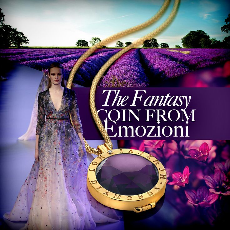 #Purple #Lavender #Sparkle #Fantasy #Dress #Necklace #Silver #SterlingSilver #Interchangeable #Coin #Jewellery #Jewelry #Emozioni #HotDiamonds #Style #Fashion #Gold
