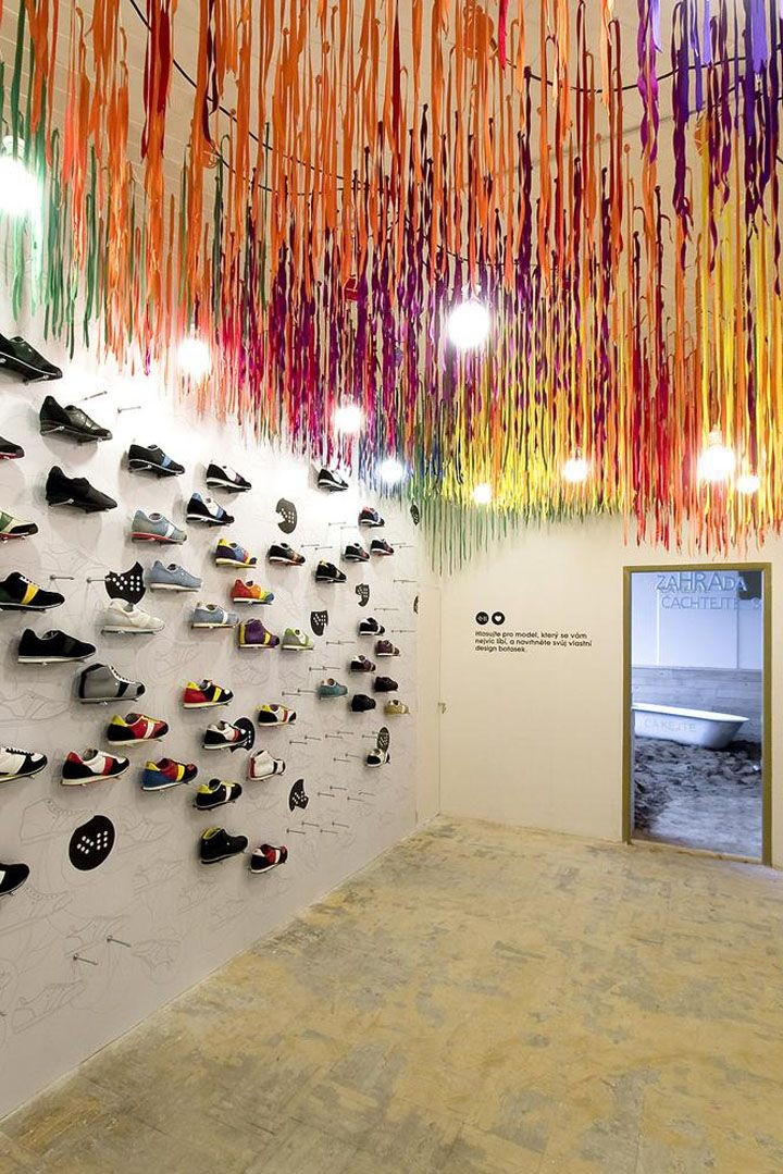 SHOE STORES! Botas 66 at Designblok10 by A1 architects, Prague store design