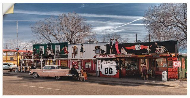 Premium Wandfolie »Kurt Krause: Historische Route 66 in Seligman«