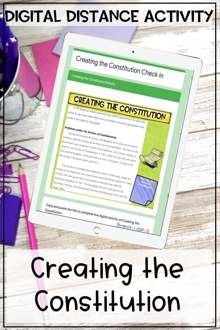 Creating The Constitution Digital Distance Learning Activity Constitution Activities Learning Activities Digital Learning Activities [ 1104 x 736 Pixel ]