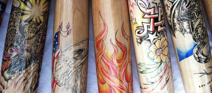 Artist series baseball bats custom oneofakind artwork