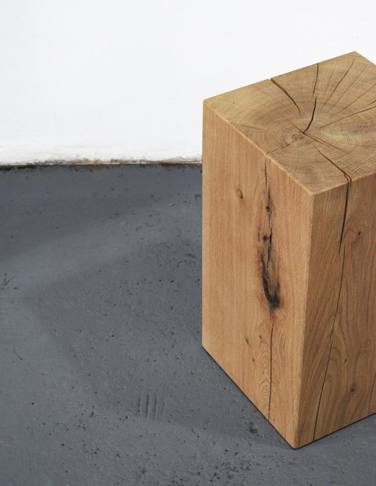 oak stool by willion.hu  #minimal #minimaldesign #stool #nightstand #coffeetable #willion