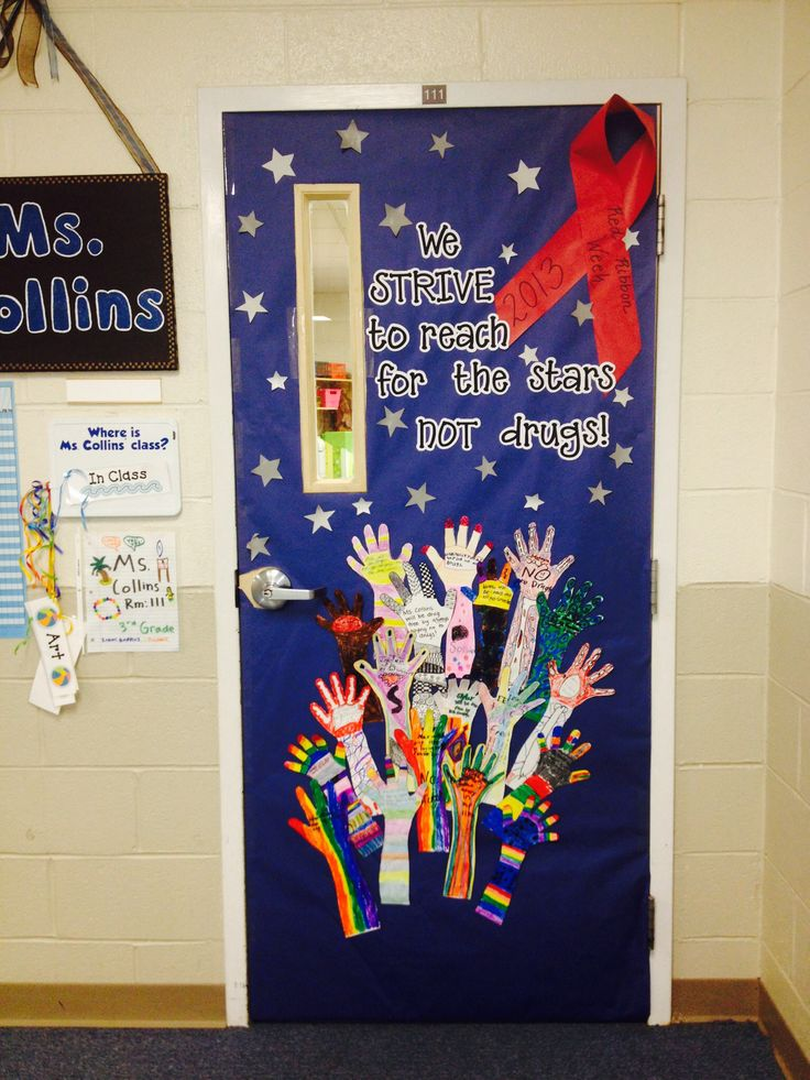 Classroom Door Decoration Ideas For Red Ribbon Week ~ Red ribbon week door decoration classroom