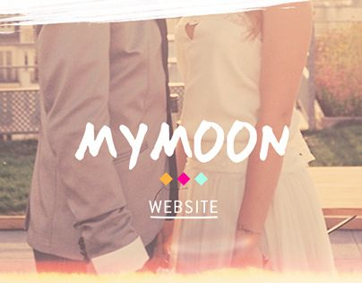 Website for a wedding-planers company named Mymoon.