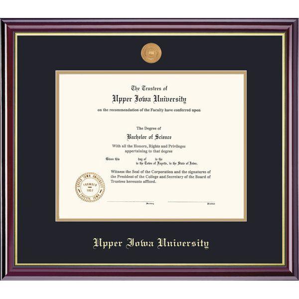 Product: Upper Iowa University 8.5x11 Windsor Diploma Frame