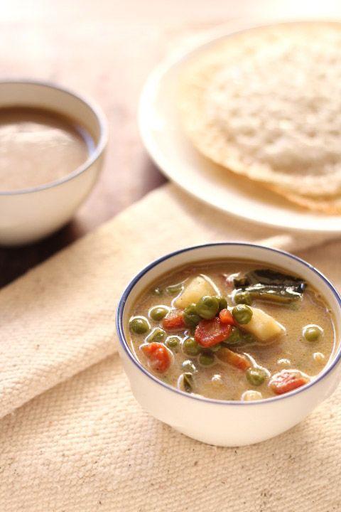 vegetable stew recipe, how to make kerala style veg stew recipe