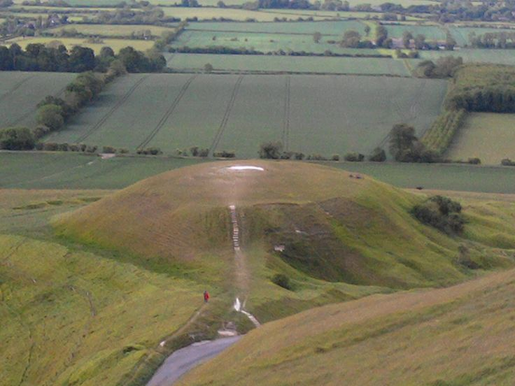 Dragon Hill sits below the White Horse of Uffington. Legends say that this is where St. George slew the dragon.