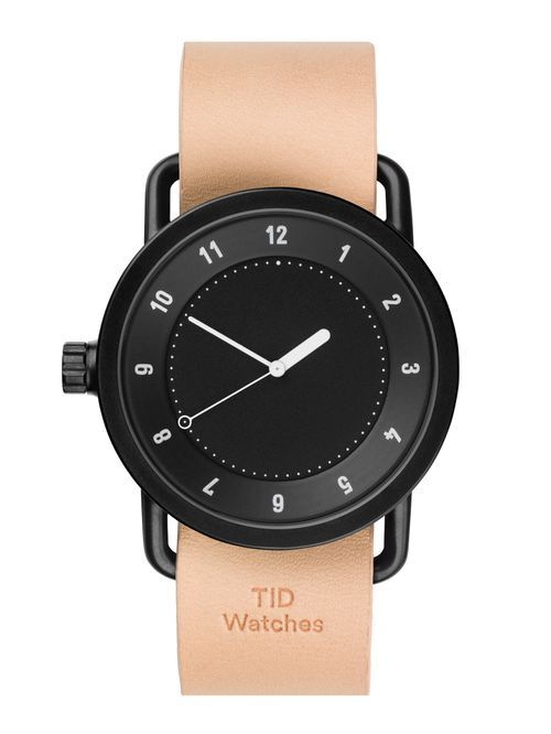 TID No.1 Black / Natural Leather Wristband