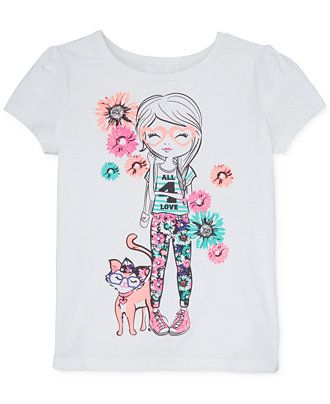 Epic Threads Little Girls' Mix & Match Girl Tee - Kids Girls 2-6X - Macy's