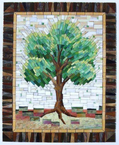 Lovely mosaic tree designs #mosaic #trees
